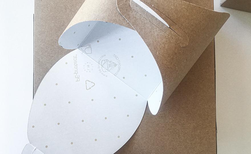 Scatola monoporzione rivestita in PE-protect®