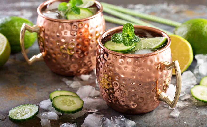 Aperitivo in spiaggia Moscow Mule