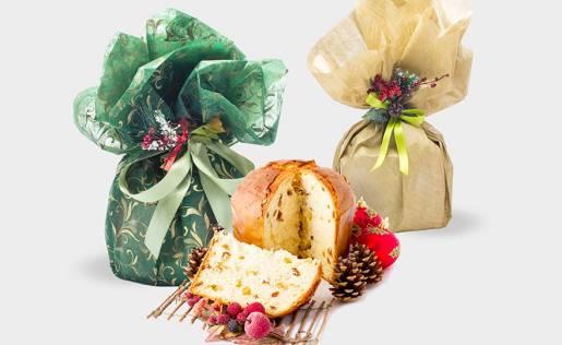 Confezioni Panettoni con fogli
