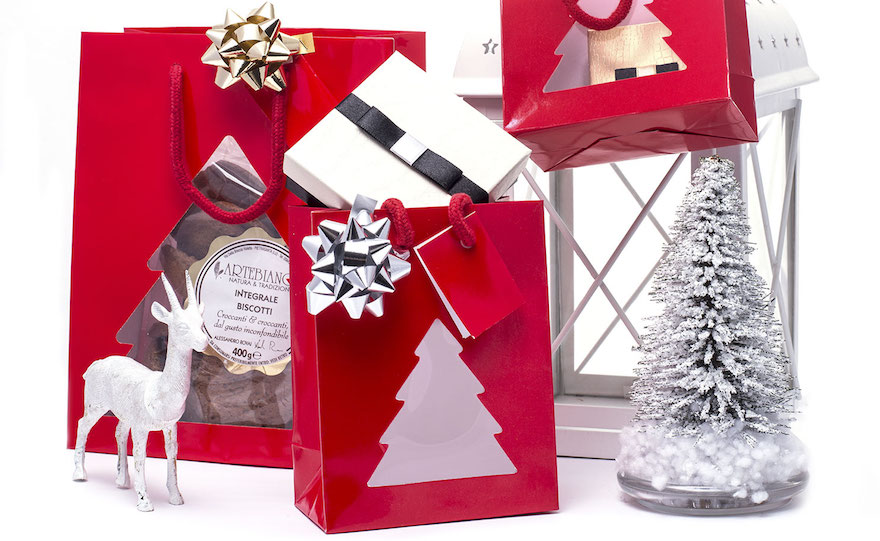 Shopper Natale Rossa