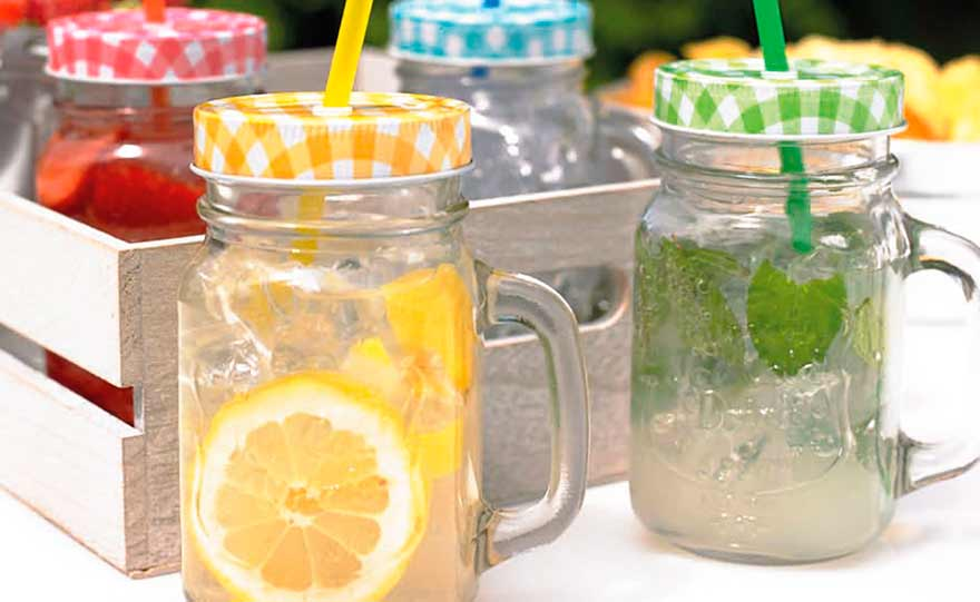 Drink in jar di vetro