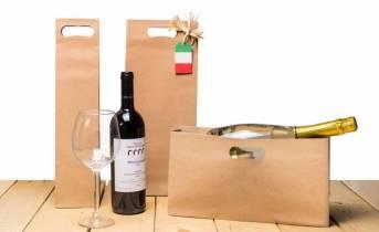 Modi per confezionare il vino con shopper