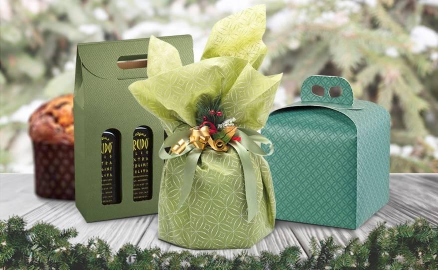 Confezioni pasticceria in verde