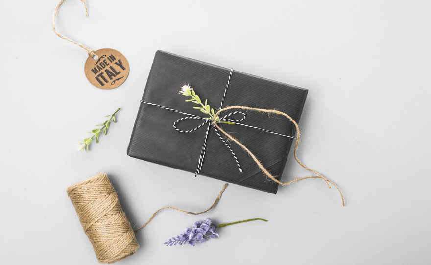 Confezione regalo carta grigio antracite