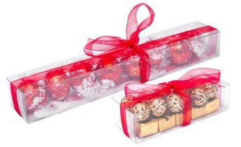 Astucci trasparenti per cioccolatini