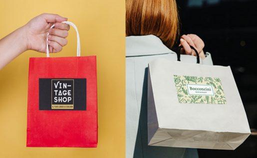Etichette adesive per Shopper