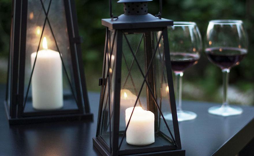 Portacandele Da Giardino : Allestimenti con lanterne portacandela all aperto o in giardino