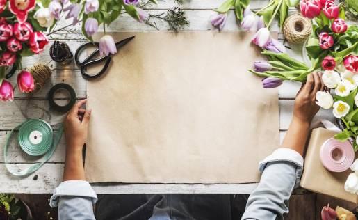 bancone per fiorista