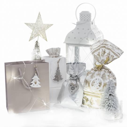 Shopper sacchetti e lanterne Natale