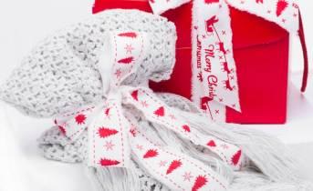 Nastri cotone sfrangiato Natale