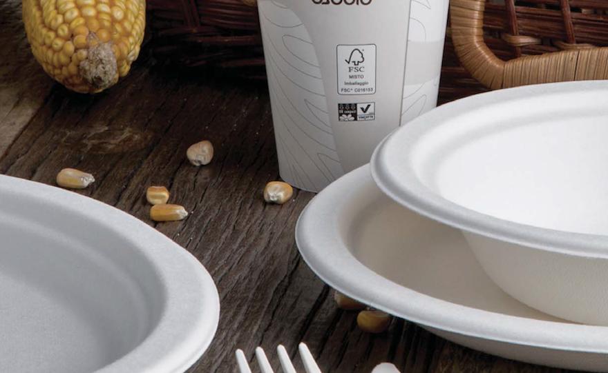 piatti monouso bio riciclabili