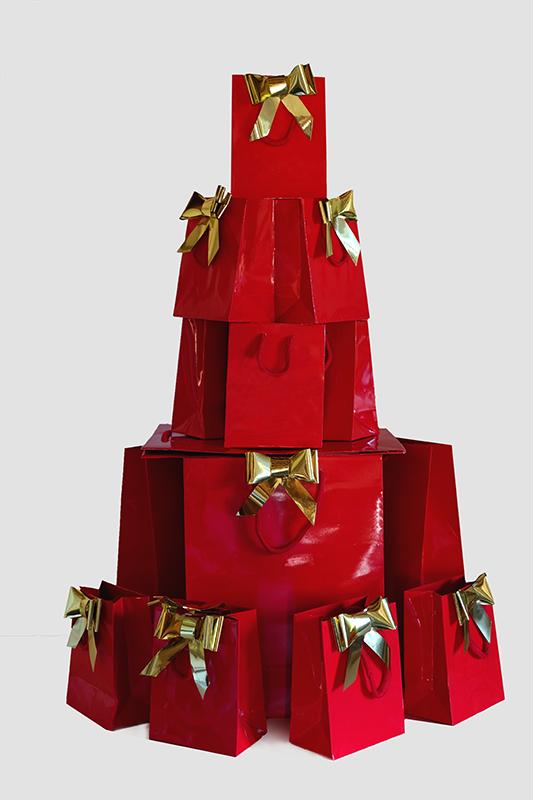 Albero di Natale di shopper
