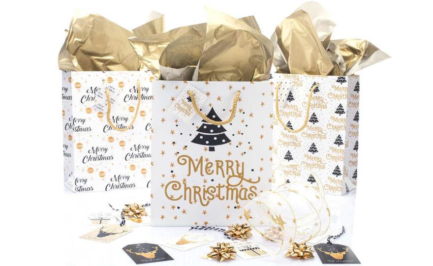 Buste Shopper Christmas Gold