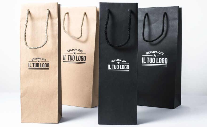 Shopper Portabottiglie con logo