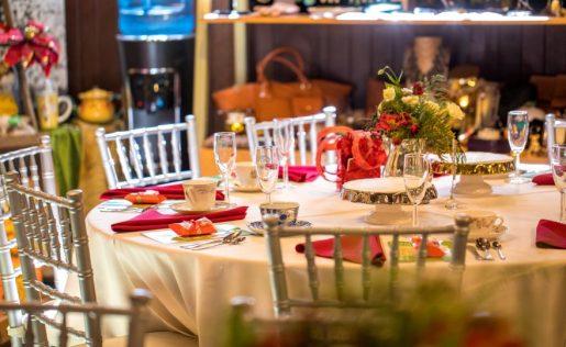 Tvola di Natale al ristorante