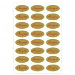 Etichetta Adesiva Auguri Ovale  Rosso