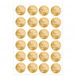 Etichette Adesive Natale Metal Oro