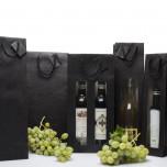Shopper Black Edition con finestra Nero