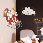 Vetrofania Babbo Natale su Slitta