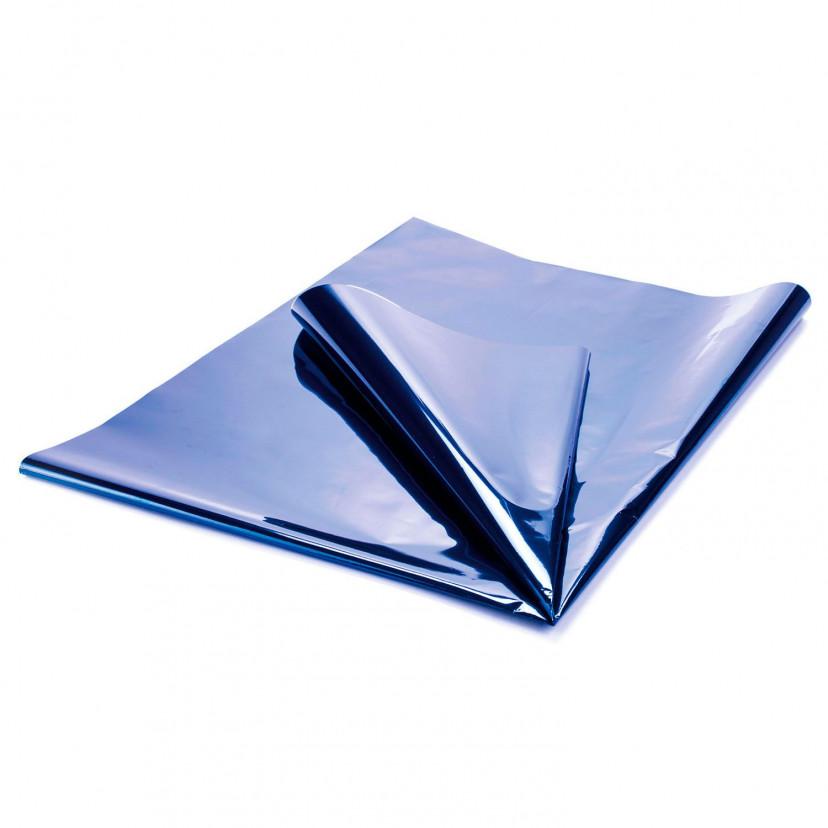 Carta Regalo Metallizzata Blu