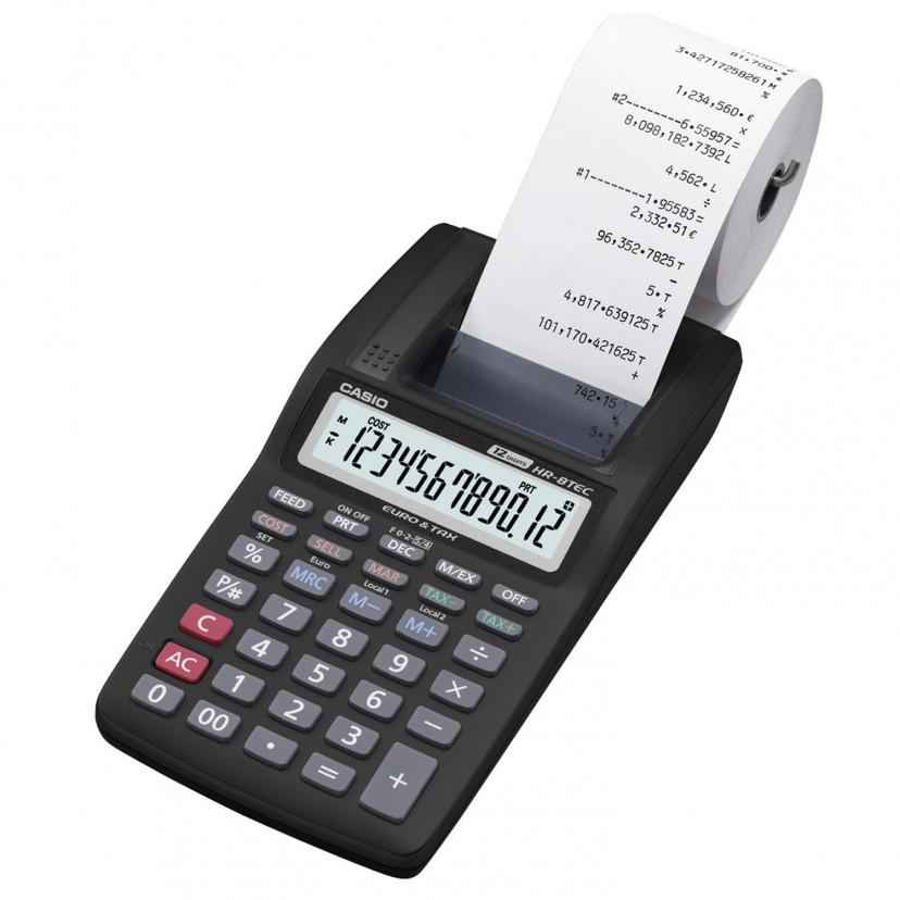 Calcolatrice Casio Stampante 12 cifre Nero