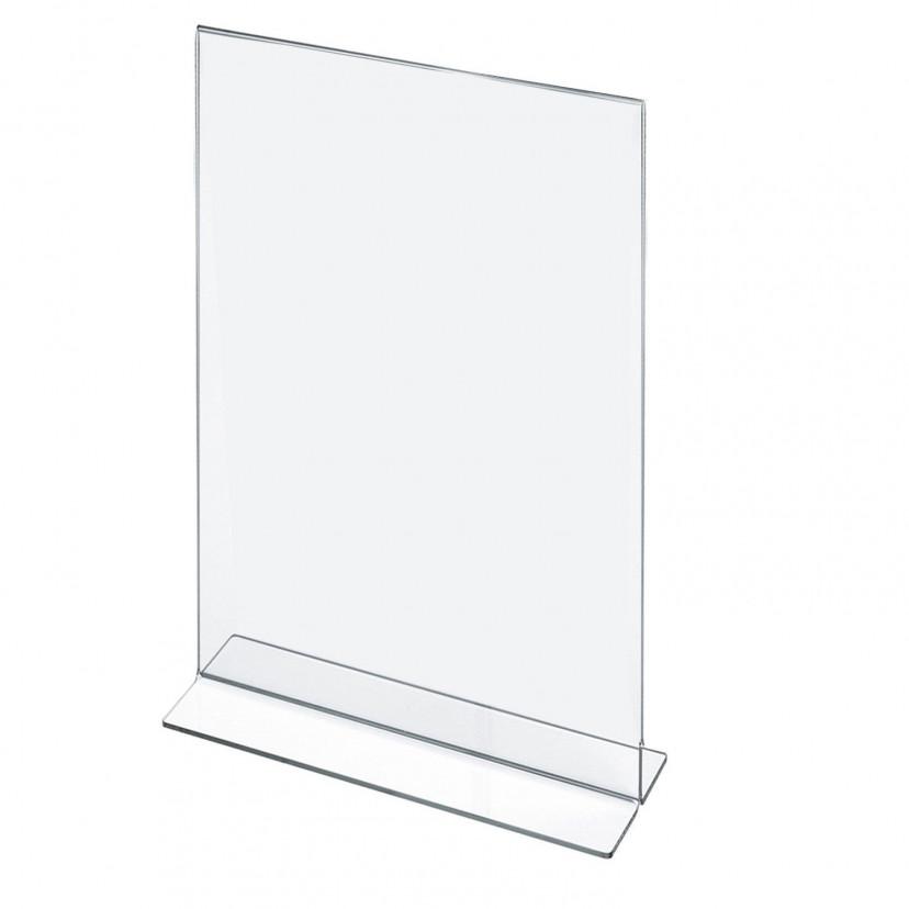 Porta Depliant in acrilico verticale