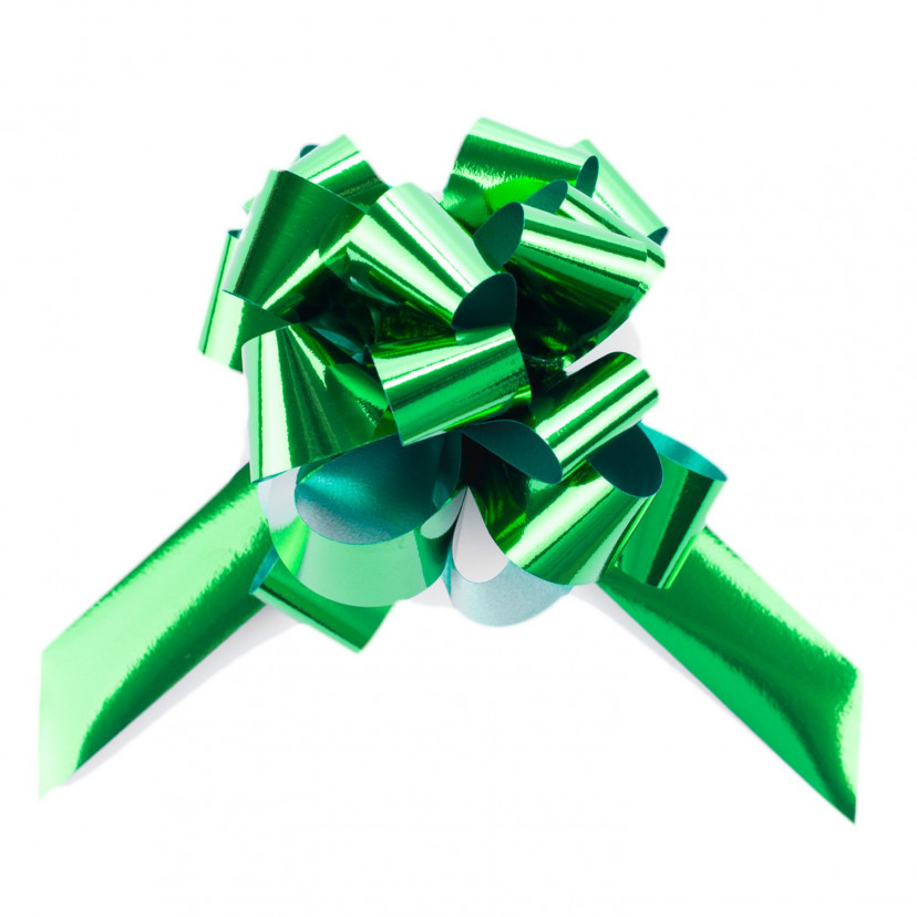 Coccarda Metal Pull Bow Verde