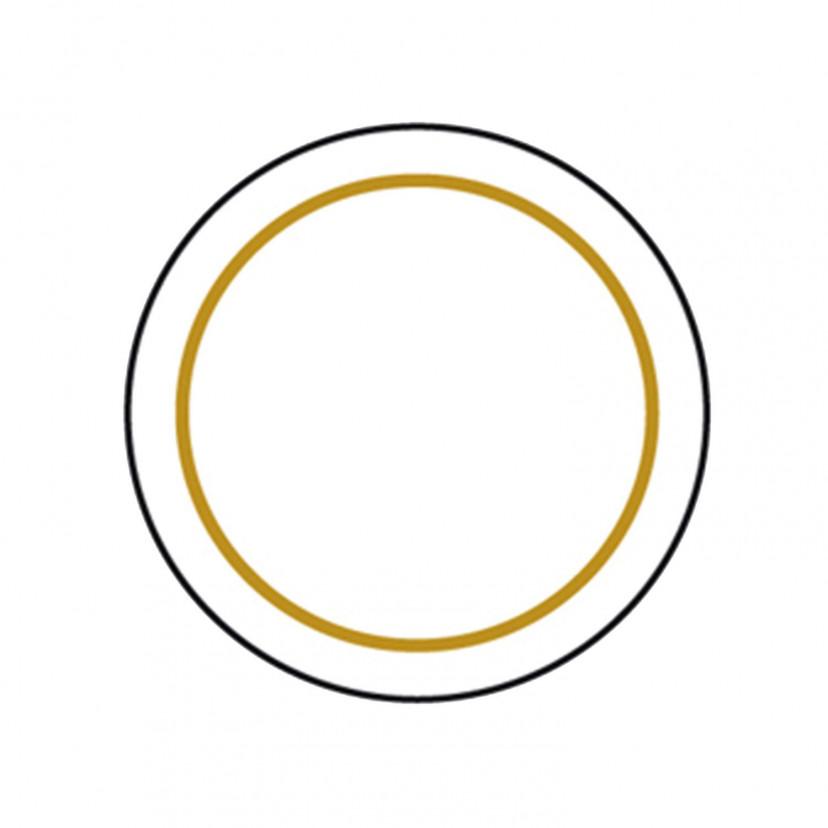 Etichetta Adesiva Trasparente Cornice Oro
