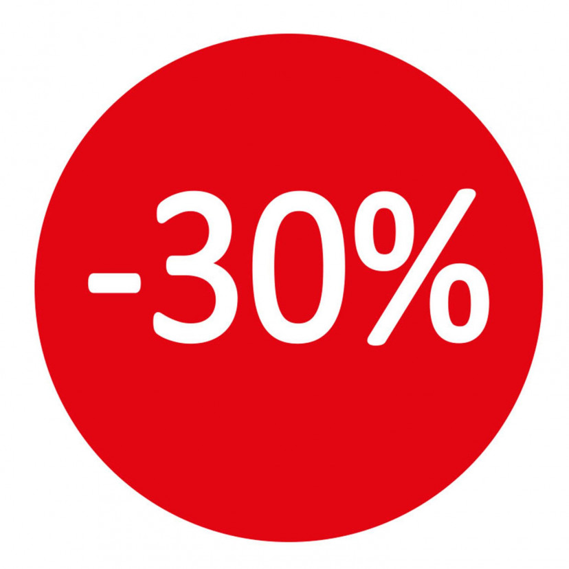 Etichetta -30%