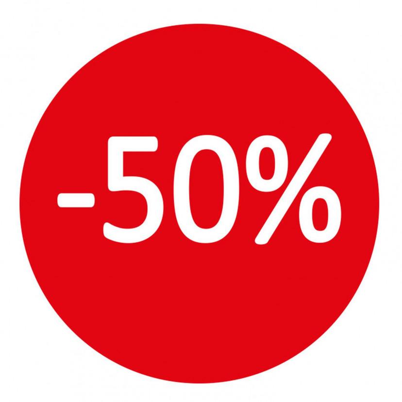 Etichetta -50%