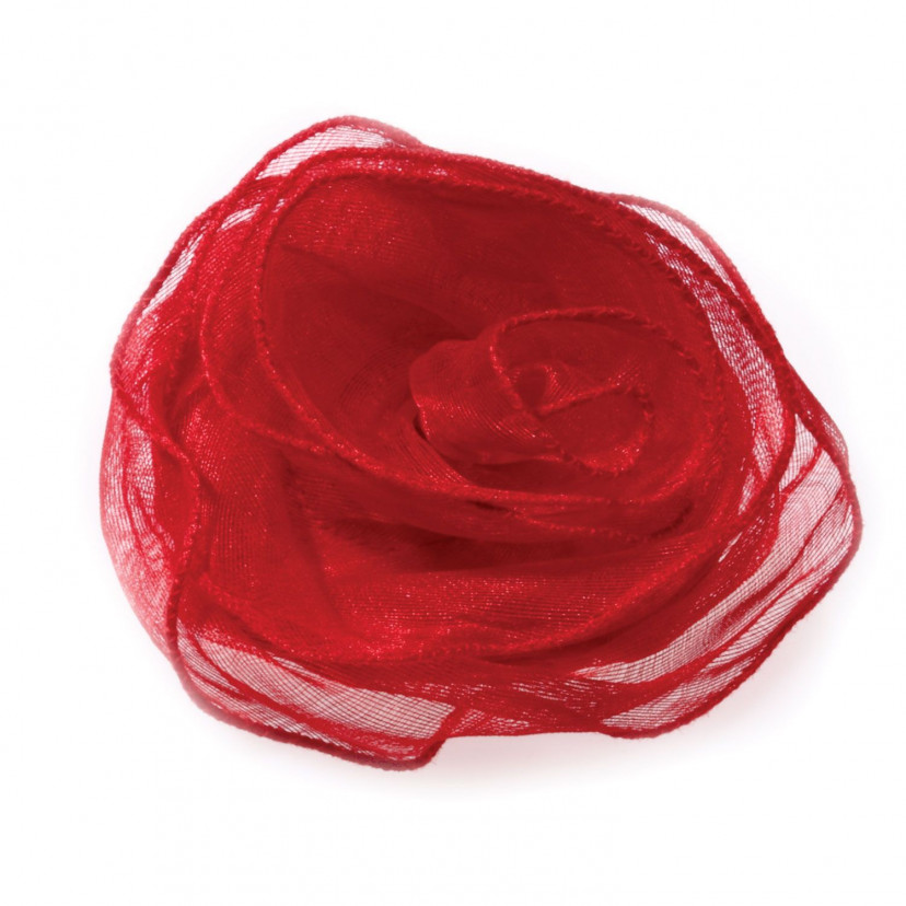 Rosa Tessuto Organza con zip Rosso