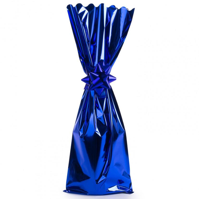 Sacchetti Portabottiglie metal lucido Blu