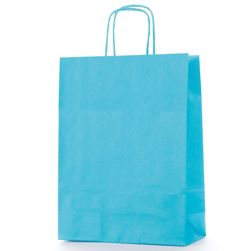 Shopper Carta Colorata Turchese