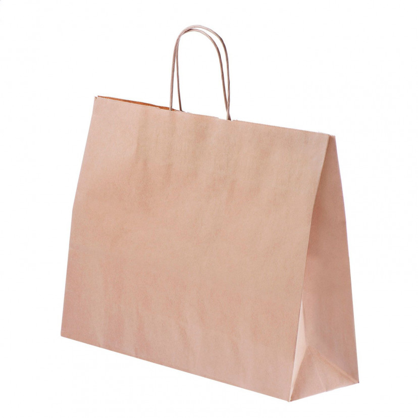 Shopper Carta Kraft cordino Avana