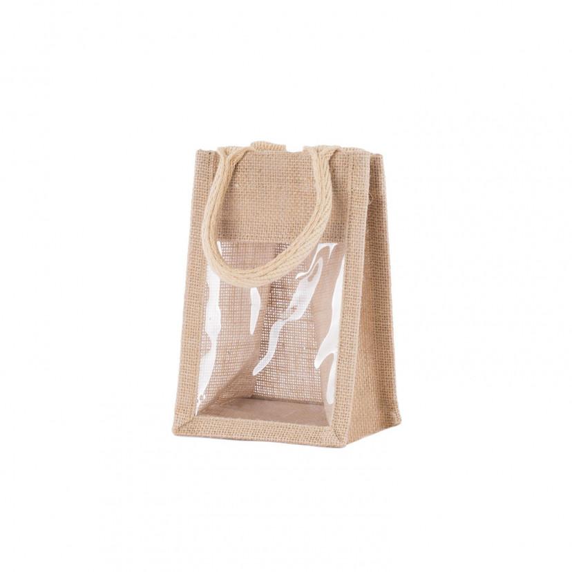 Shopper in Juta Vetrina con Manico Cotone Naturale