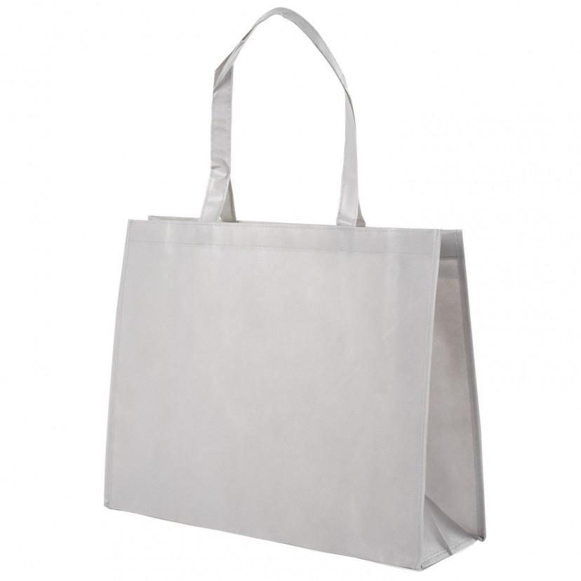 Shopper Tnt Plastificato Opaco Grigio