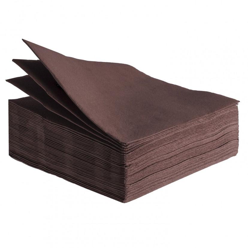 Tovaglioli Tissue Unicolor 38x38 cm Marrone