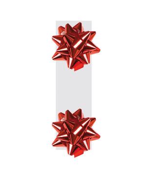 Doppia Coccarda Metal Chiudi-Borsa Rosso