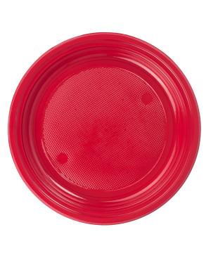 Piatti Plastica colorata Rosso