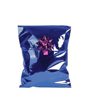 Sacchetti Metal Lucido con Adesivo Blu