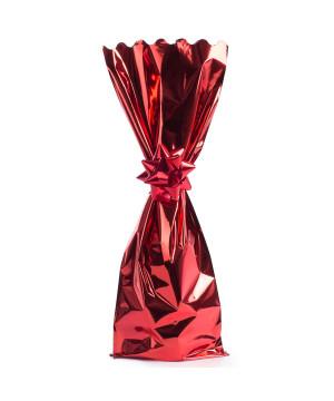 Sacchetto Metal Portabottiglie Rosso