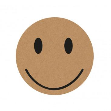 Etichetta Adesiva Kraft Smile