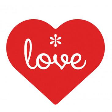 Etichetta Adesiva Love