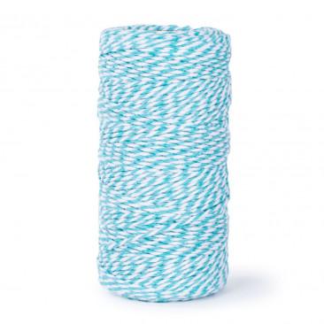 Nastro Cotone Bicolor Bianco/Azzurro