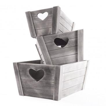 Set Scatole legno
