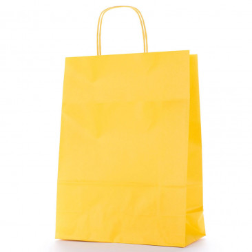 Shopper Carta Colorata Giallo