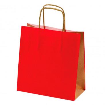 Shopper Carta Bicolor Rosso
