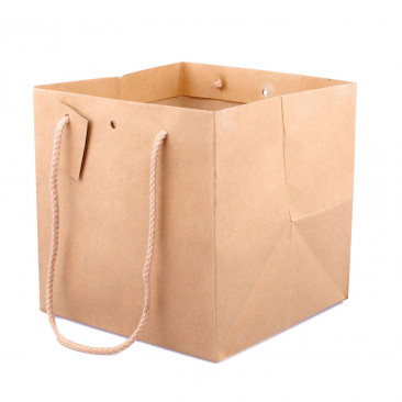 Shopper Carta Kraft Cube  Avana