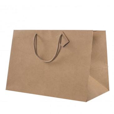 Shopper Carta Kraft Fondo Largo Avana