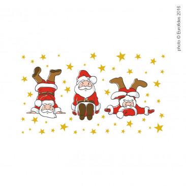 Vetrofania Babbo Natale Capriole